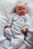 jongen van de één maand de oude baby Stock Afbeelding