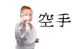 Het jonge geitje van de karate Royalty-vrije Stock Afbeeldingen