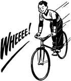 Jongens berijdende fiets royalty-vrije illustratie