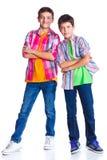 Jongens in de studio Royalty-vrije Stock Foto's