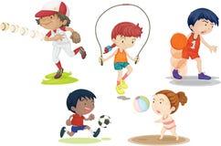 Jongens en Meisjes stock illustratie