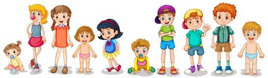 Jongens en meisjes royalty-vrije illustratie