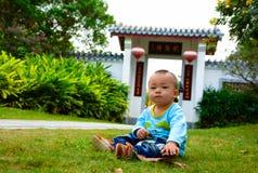 Jongenskinderen ï ¼ ˆAsian China yellowï ¼ ‰ Royalty-vrije Stock Fotografie