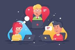 Jongere, mensen verre samenwerking vector illustratie