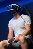 Jongeren bij tentoonstelling Gamescom Stock Foto