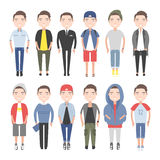 Jongeren in dagelijkse kleren vector illustratie