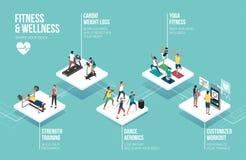 Jongeren die sporten samen uitoefenen royalty-vrije illustratie