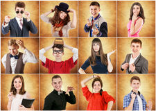Jongeren emotionele portretten royalty-vrije stock fotografie