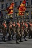 Jongeren in het uniform van de Tweede Wereldoorlog Royalty-vrije Stock Foto's
