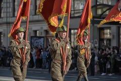 Jongeren in het uniform van de Tweede Wereldoorlog Royalty-vrije Stock Foto