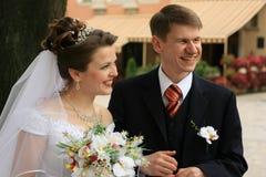 Jonggehuwden Royalty-vrije Stock Foto's
