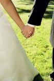 Jonggehuwden samen Royalty-vrije Stock Fotografie