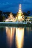 JONGKLANG PAGODA. The pagoda from northen of Thailand we call Doi Kongmu pangoda. It is at a temple in Maehongson District royalty free stock photos
