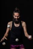 Jonglör som har funt på cirkusen Fotografering för Bildbyråer