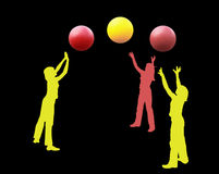 jonglörer Arkivfoto