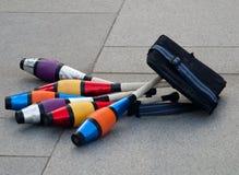 jonglera för klubbor Arkivfoton