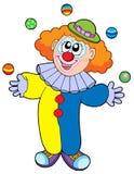 jonglera för tecknad filmclown Royaltyfri Foto