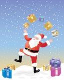 Jonglerende met Kerstman Royalty-vrije Stock Foto's