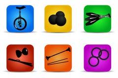 Jonglerende met pictogrammen Stock Fotografie