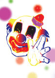 Jongleur de clown   Photographie stock