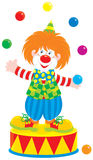 Jongleur de clown de cirque