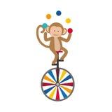 Jonglierende Karikatur des Affen Lizenzfreie Stockbilder