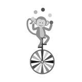 Jonglierende Karikatur des Affen Lizenzfreies Stockbild