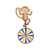 Jonglierende Karikatur des Affen Stockbild