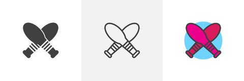 Jonglierende verschiedene Artikonen der Kegel Lizenzfreies Stockbild