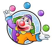 Jonglierender Clown Stockfotos