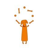 Jonglierender Hund Stockbilder