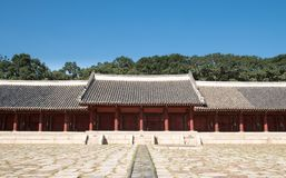 Jongmyo, the Royal Ancestral Shrine in Korea Royalty Free Stock Images