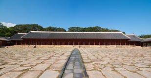 Jongmyo, the Royal Ancestral Shrine in Korea Stock Photography