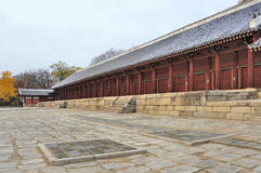 Jongmyo Royal Shrine in Seoul Stock Photo