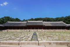 Jongmyo in Seoul, Korea. Jongmyo is the oldest Confucian royal shrine located in Seoul, Korea Stock Image