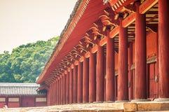 Jongmyo Shrine. Is a Confucian shrine in Seoul, South Korea, and a UNESCO World Heritage Site Stock Photos