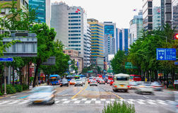Jongno-Gu commercial district in the heart of Seoul city. South Korea Stock Photos
