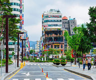 Jongno-Gu commercial district in the heart of Seoul city. South Korea Royalty Free Stock Photography