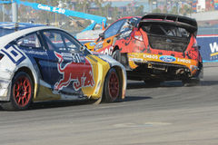 Joni Wiman 31 and Steve Arpin 00, battle for position during the Royalty Free Stock Photo