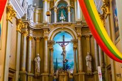 Joniskis Sant kościół wniebowzięcie maryja dziewica Lithu Zdjęcia Royalty Free