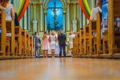 Joniskis Sant kościół wniebowzięcie maryja dziewica Lithu Obrazy Royalty Free