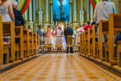 Joniskis Sant kościół wniebowzięcie maryja dziewica Lithu Fotografia Stock