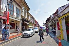 Jonker Street in Malacca Stock Photography
