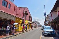 Jonker Street in Malacca Stock Images
