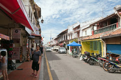 Jonker street in Malacca Stock Photography