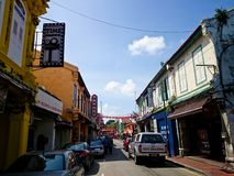 Jonker Street Melaka. MELAKA, MALAYSIA - April 11, 2018 : View around the Jonker Street. Historical road with old building structure. Also known as China town in Royalty Free Stock Photography