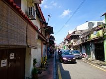 Jonker Street Melaka. MELAKA, MALAYSIA - April 11, 2018 : View around the Jonker Street. Historical road with old building structure. Also known as China town in Stock Images