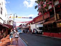 Jonker Street Melaka. MELAKA, MALAYSIA - April 11, 2018 : View around the Jonker Street. Historical road with old building structure. Also known as China town in Royalty Free Stock Images