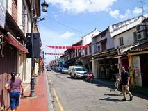 Jonker Street Melaka. MELAKA, MALAYSIA - April 11, 2018 : View around the Jonker Street. Historical road with old building structure. Also known as China town in Stock Photos