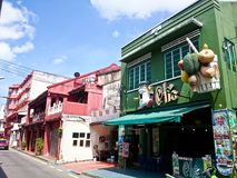 Jonker Street Melaka. MELAKA, MALAYSIA - April 11, 2018 : View around the Jonker Street. Historical road with old building structure. Also known as China town in Stock Photography